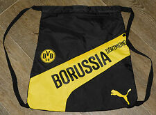 Borussia Dortmund Puma evo Speed Gymsack - Black/Yellow Brand New BVB Bag
