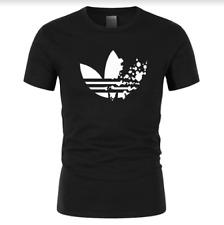 Adidas T-Shirt Cotton Activewear Short Sleeve Sport Tops Fitness Summer Shirts