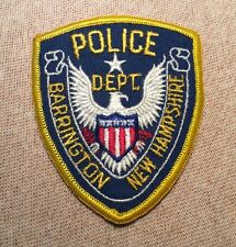 NH Barrington New Hampshire Police Patch (3.5In)