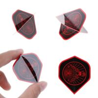 30 Pcs/1 Set Red+Black Nice Dart Flights Rare Pattern High Quality PET