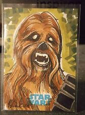 2015 TOPPS STAR WARS JOURNEY TO THE FORCE SKETCH KILEY BEECHER 1/1 CHEWBACCA