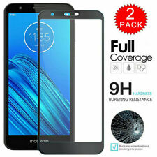 For Motorola Moto E6 Play Full Cover Clear Tempered Glass Screen Protector
