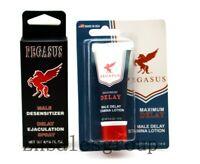 Pegasus Maximum Male Delay Stamina Lotion / Male Desensitizer Spray Made In USA