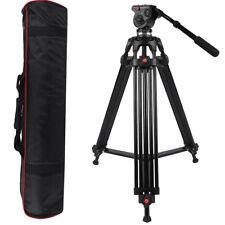 "Professional Heavy Duty 63""inch DV Video Camera Tripod Stand Fluid Pan Head Kit"