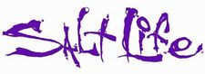 """Salt Life Signature """"PURPLE 06 inch Small Decal - UV rated vinyl *FREE SHIPPING*"""