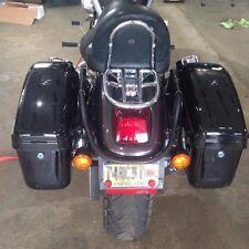 Hard Bag Saddlebag w/brackets for Harley Davidson Sportster Softail DYNA GA