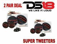 """DS18 2"""" Super Red Tweeters Built-in Crossover Car Truck Boat Stereo 200W 2 Pair"""