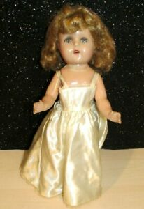 """Antique 1940s Unmarked 15"""" All Composition Doll w/ TEETH,SLEEP EYES  LOVELY"""