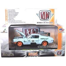 M2 Machines Auto Mod 1968 Ford Mustang #68 1:64 Diecast 32600 AM02 Light Blue