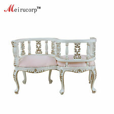 Vintage 1/6 scale doll miniature well furniture Handmade gilt S Chair