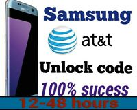 Unlock code Service for at&t Samsung Galaxy S9 S8 S8+S7 S6 Note 5 4 Edge Active