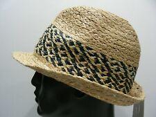 GOODFELLOW & CO. - M/L SIZE STRAW LIKE FEDORA TRILBY STYLE CAP HAT!