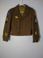 Vintage  WW2 US  Wool Dress Coat Jacket Sz 34S