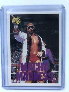 1990 Classic WWF Macho Man Randy Savage Wrestling Card