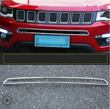 For Jeep Compass 2017 2018 2019 ABS Chrome Front Bumper Lower Grille Cover Trim