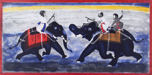 Rew HANKS Battle of the Bulls original signed etching Australian fineart Sydney