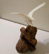 1970's John Perry Flying Eagle Burl Wood Sculpture
