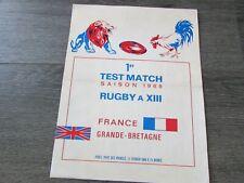 More details for france v grande bretagne 1968 1st test & season at paris rugby league programme