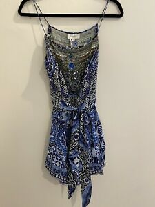 Camilla - Playsuit - Blue - Size S