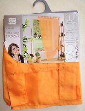 Rideau voilage orange mandarine neuf 140 x 240 Collection Douceur d'Intérieur