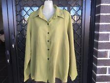 Leesa Fashions Women's Shirt - Black & Yellow, Button Up, Long Sleeve - Size 18