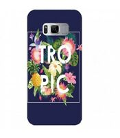 Coque S8 Tropical bleu ananas summer exotique beach