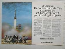 4-7/1980 PUB GENERAL ELECTRIC BUMPER 8 ROCKET CAPE CANAVERAL SPACE ORIGINAL AD