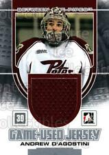 2013-14 Between the Pipes Jersey Silver #3 Andrew D'Agostini