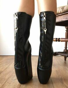 Black Matte Ankle Boots Women Ballet High Heels Shoes Ladies Women Boots Classic
