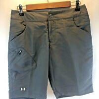 NWOT Under Armour Performance Women's Gray Bermuda Golf Walking Shorts Size 4
