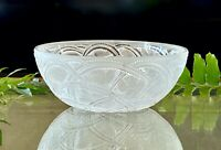 "Lalique Pinsons Bowl Finches in Foliage 9.25"" Mint Signed & Guaranteed Authentic"