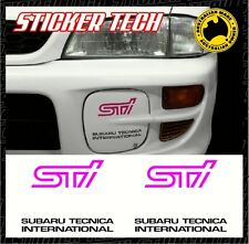 SUBARU STI PINK & BLACK FOG LIGHT COVER STICKER DECAL KIT SUITS WRX GC8 MY98
