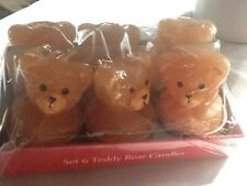 LOT OF  6 TEDDY BEAR CANDLES CAKE  cupcake toppers new in box