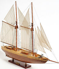 "Schooner Bluenose II Wood Ship Model 38"" Sailboat Fully Assembled Fishing Boat"
