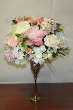 Wedding Flower centerpiece, Floral Arrangement, Home Decor, white pink flowers