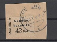 BY7035/ GERMANY – AMERICAN ZONE – MINDELHEIM – MI # 2B USED ON PIECE