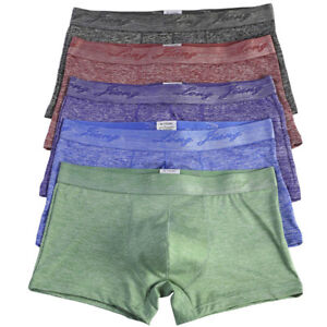 Men's Sexy Hot Boxer Shorts Raised Pouch Underwear Comfy Soft Male Underpants
