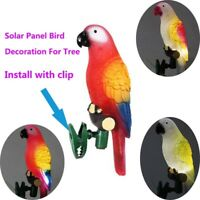 Solar Power LED Light Parrot Lamp With Clip Night Lights for Garden Path Decor
