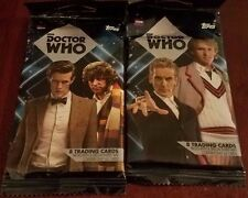 2 PACKS SEALED DR. WHO TRADING CARDS TOPPS NEW 8 CARDS EACH PACK