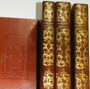 REVOLUTION FRANCAISE Peinte Par ELLE-MÊME 4 Volumes 1844 Belle RELIURE RARE