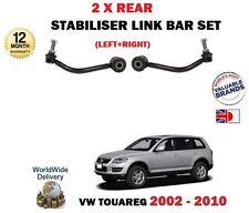 FOR VW TOUAREG 2002-2010 NEW 2 X REAR LEFT + RIGHT STABILISER LINK SWAY BAR SET