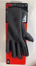 Spyder Men's CORE Conduct Touchscreen Fleece Lined Gloves, Gray/Black NEW Medium