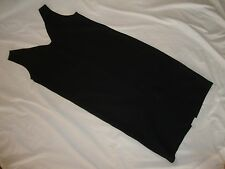 Womens Vintage 90s Little Black Sheath Dress Scoop Neck V Back Slit Size 7 8 EUC
