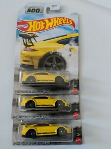 2021 Hot Wheels Factory 500 HP Porsche 911 GT3 RS Collection Lot x3