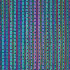 RIBBON STRIPE BLUE by Kaffe Fassett Sold in 1/2 yd increments