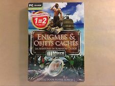 JEU PC CD ROM / ENIGMES ET OBJETS CACHES / ROBINSON CRUSOE / NEUF SOUS CELLO