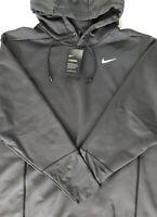 Nike Men's Dark Charcoal Gray Therma Football Training L/S Hoodie XXL 2XL AO5972