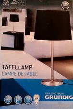 TISCHLAMPE Dekoleuchte Nachttischlampe Edelstahlfuß Lampe ca.50 cm GRUNDIG - NEU