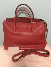 Miu Miu Madras Shopping Tote Fuoco (Designer Colour), Goatskin Leather
