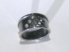 anello argento imbrunito - burnished silver ring